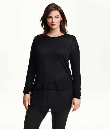 + Fine Knit Jumper - pattern: plain; length: below the bottom; neckline: roll neck; style: standard; predominant colour: black; occasions: casual, creative work; fit: standard fit; sleeve length: long sleeve; sleeve style: standard; texture group: knits/crochet; season: a/w 2015