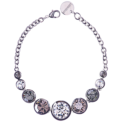 Swarovski Teardrop Bracelet - predominant colour: silver; occasions: evening, occasion; style: chain; size: standard; material: chain/metal; finish: metallic; embellishment: crystals/glass; season: a/w 2015; wardrobe: event