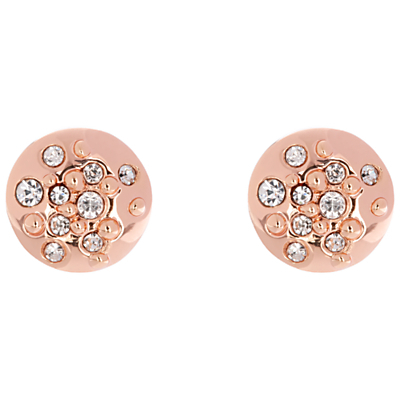 Sprinkle Crystal Stud Earrings - predominant colour: gold; occasions: casual, evening, work, occasion, creative work; style: stud; length: short; size: small/fine; material: chain/metal; fastening: pierced; finish: metallic; embellishment: crystals/glass; season: a/w 2015; wardrobe: basic