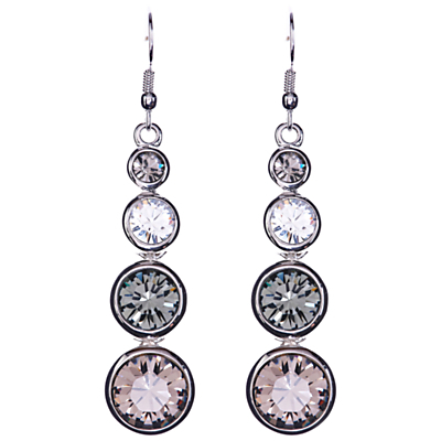 Swarovski Teardrop Earrings, Silver - predominant colour: silver; occasions: evening, occasion; style: drop; length: long; size: standard; material: chain/metal; fastening: pierced; finish: metallic; embellishment: crystals/glass; season: a/w 2015; wardrobe: event