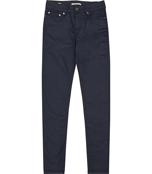 Stevie Coated Low Rise Skinny Jeans - style: skinny leg; length: standard; waist: low rise; pocket detail: traditional 5 pocket; predominant colour: navy; occasions: casual; fibres: cotton - stretch; texture group: denim; pattern type: fabric; pattern: patterned/print; season: a/w 2015; wardrobe: highlight