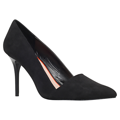 Able High Heeled Stiletto Court Shoes - predominant colour: black; occasions: work, occasion; heel height: high; heel: stiletto; toe: pointed toe; style: courts; finish: plain; pattern: plain; material: faux suede; season: a/w 2015; wardrobe: investment