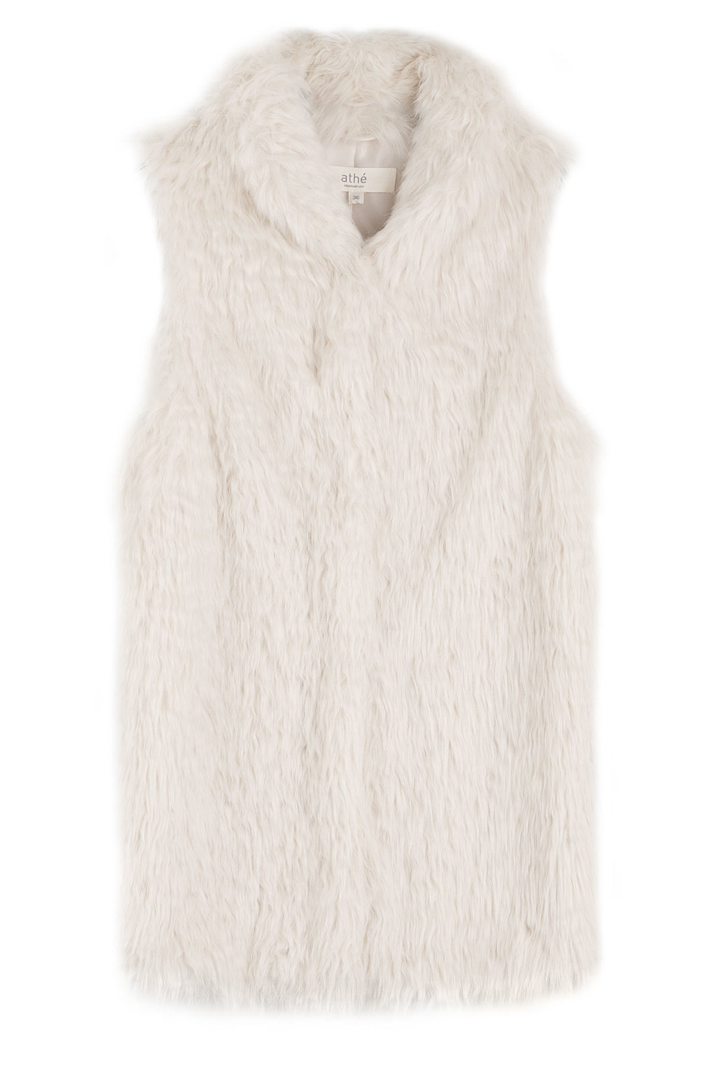 Faux Shearling Vest Beige - pattern: plain; sleeve style: sleeveless; style: gilet; predominant colour: white; occasions: casual, creative work; length: standard; fit: straight cut (boxy); fibres: acrylic - 100%; collar: shirt collar/peter pan/zip with opening; sleeve length: sleeveless; texture group: fur; collar break: medium; pattern type: fabric; season: a/w 2015; wardrobe: highlight