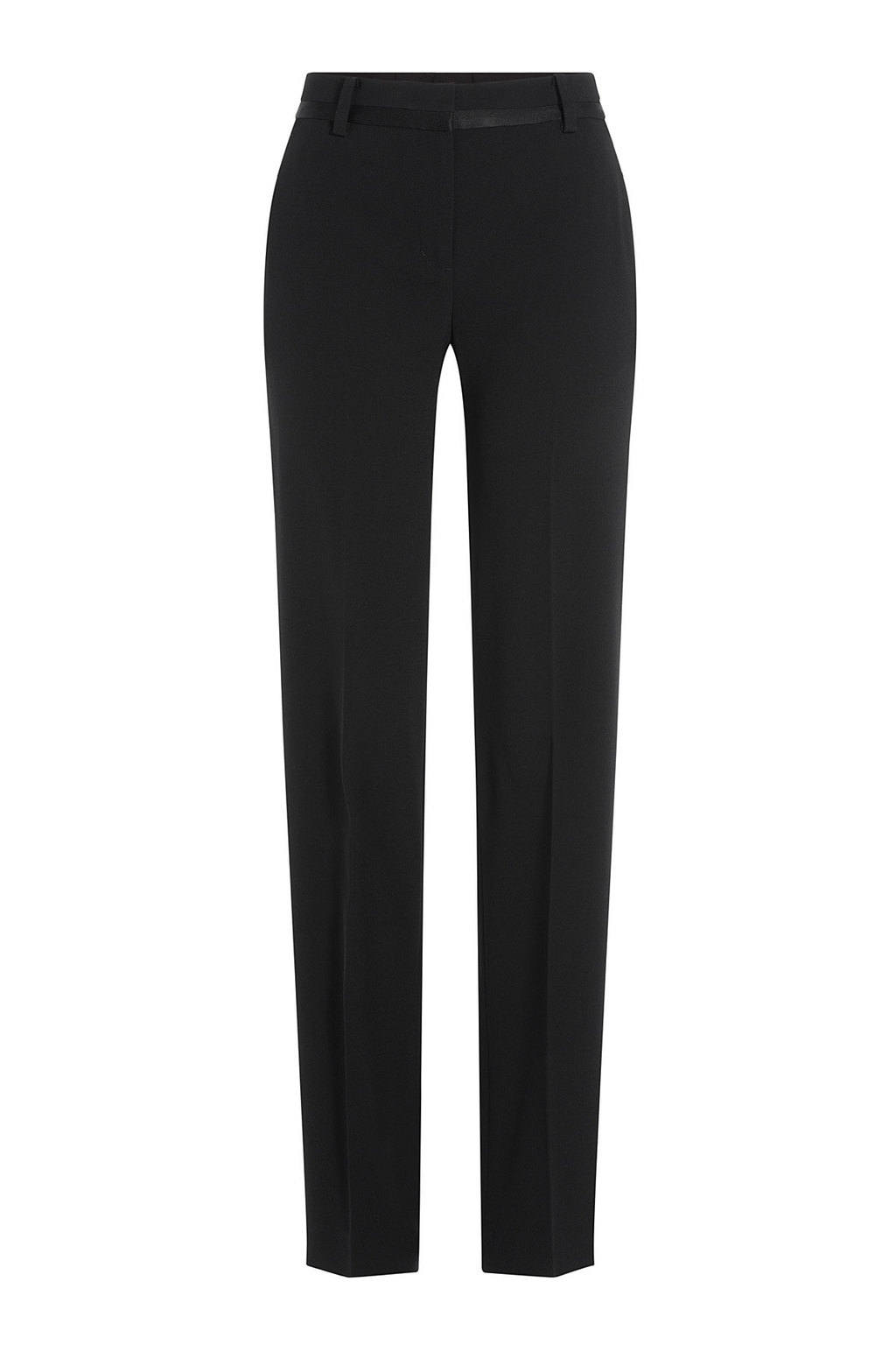 Straight Leg Pants Black - length: standard; pattern: plain; waist: mid/regular rise; predominant colour: black; occasions: evening, work, creative work; fibres: acrylic - mix; fit: straight leg; pattern type: fabric; texture group: woven light midweight; style: standard; season: a/w 2015