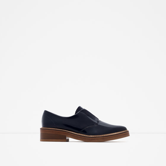 Antik Leather Bluchers - predominant colour: navy; occasions: casual, creative work; material: faux leather; heel height: flat; toe: pointed toe; style: loafers; finish: plain; pattern: plain; season: a/w 2015; wardrobe: basic