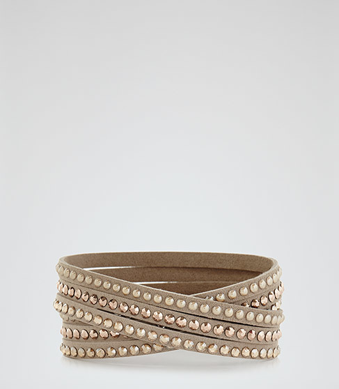 Kalina Bracelet With Crystals From Swarovski - predominant colour: gold; occasions: evening, occasion; style: buckle/wrap; size: standard; material: chain/metal; finish: plain; embellishment: crystals/glass; season: a/w 2015; wardrobe: event