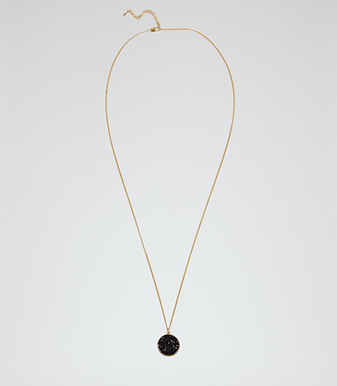 Nikita Pendant With Crystals From Swarovski - secondary colour: gold; predominant colour: black; occasions: evening, occasion; style: pendant; length: mid; size: standard; material: chain/metal; finish: metallic; embellishment: jewels/stone; season: a/w 2015; wardrobe: event