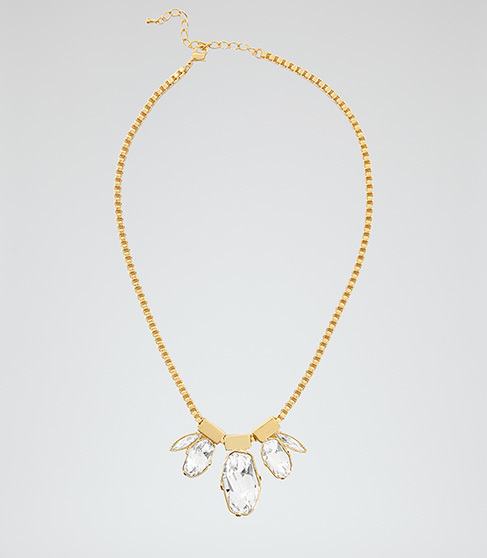 Anastacia Necklace With Crystals From Swarovski - predominant colour: gold; occasions: evening, occasion; style: pendant; length: mid; size: standard; material: chain/metal; finish: metallic; embellishment: crystals/glass; season: a/w 2015; wardrobe: event