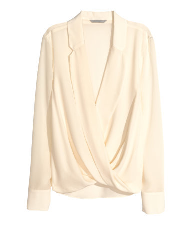 Wraparound Silk Blouse - neckline: low v-neck; pattern: plain; style: blouse; predominant colour: blush; occasions: casual, evening, creative work; length: standard; fibres: silk - 100%; fit: loose; sleeve length: long sleeve; sleeve style: standard; texture group: silky - light; bust detail: bulky details at bust; pattern type: fabric; season: a/w 2015; wardrobe: highlight