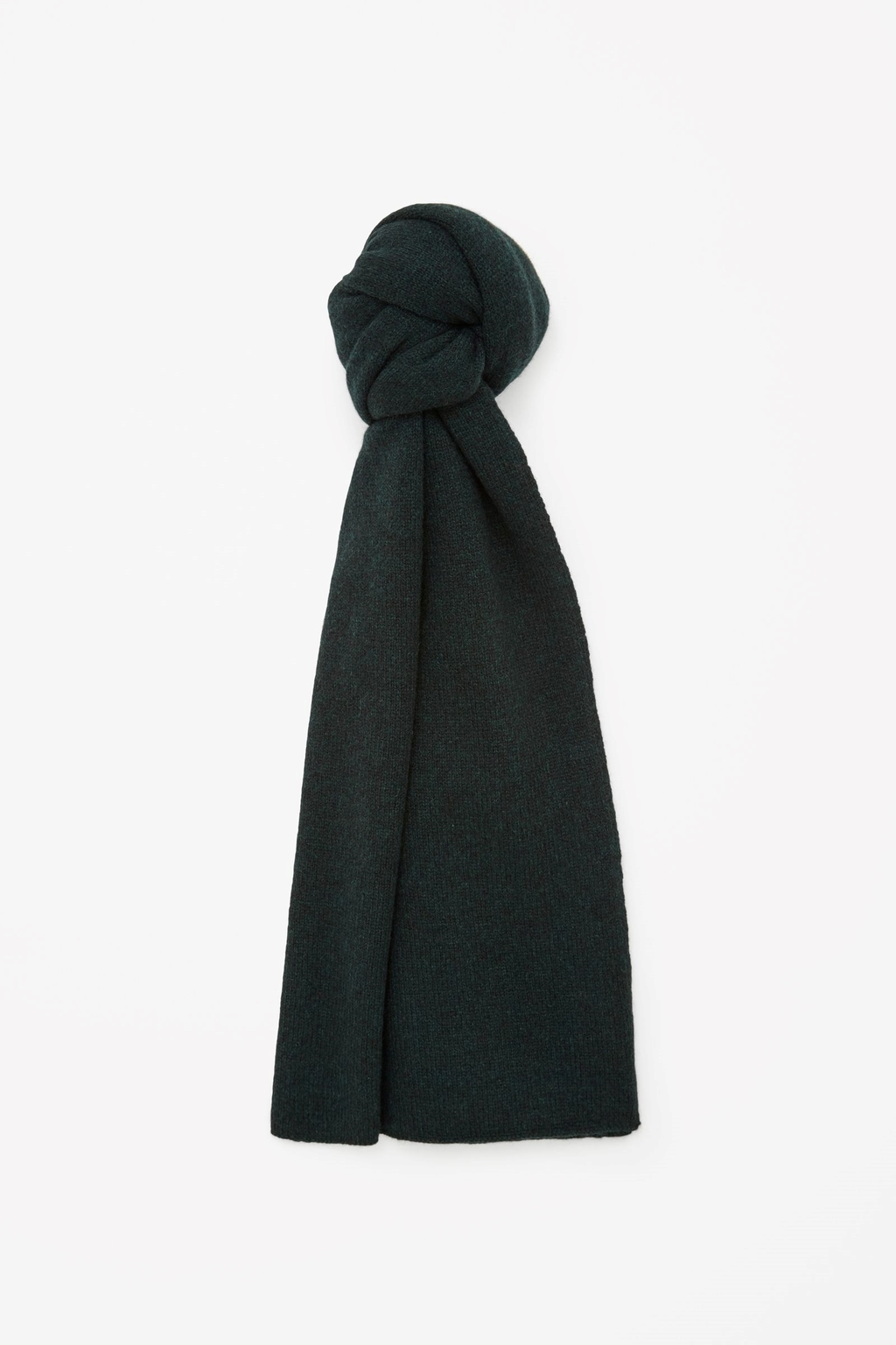 Cashmere Scarf - predominant colour: dark green; occasions: casual; style: regular; size: standard; pattern: plain; material: cashmere; season: a/w 2015