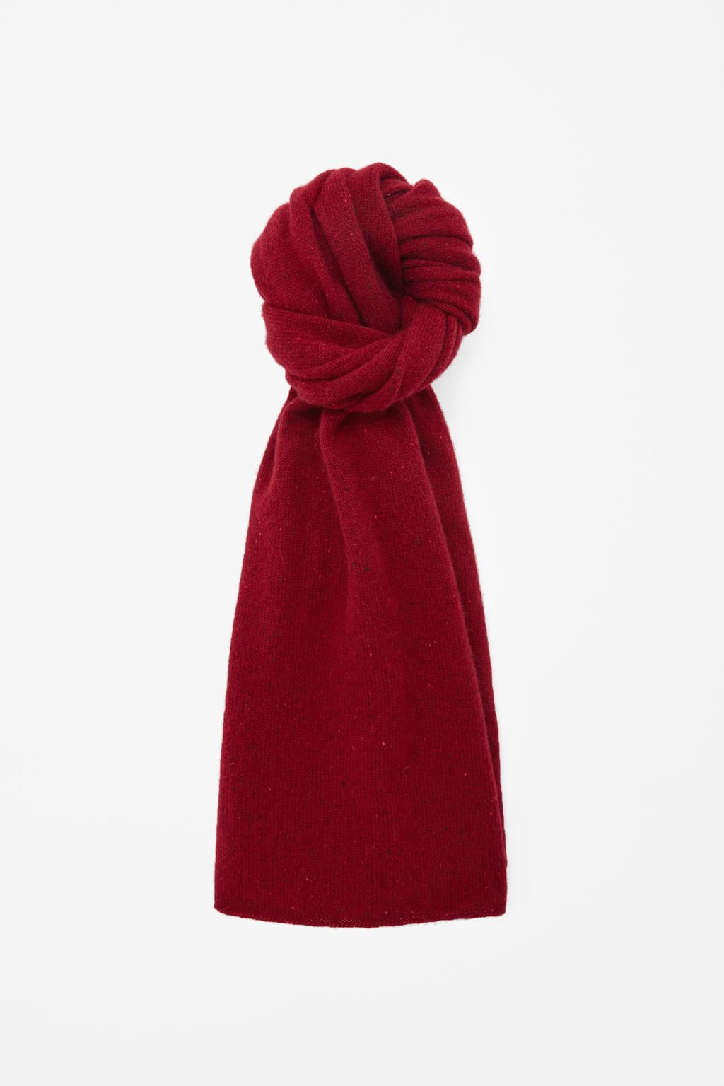 Speckled Cashmere Scarf - occasions: casual; style: regular; size: standard; pattern: plain; material: cashmere; predominant colour: raspberry; season: a/w 2015; wardrobe: highlight
