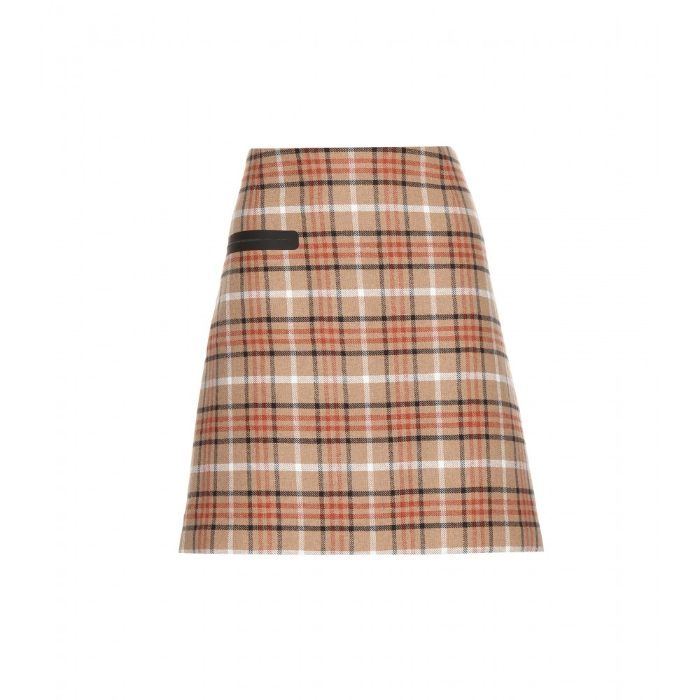 Tartan Skirt - length: mid thigh; pattern: checked/gingham; fit: loose/voluminous; waist: high rise; secondary colour: bright orange; predominant colour: camel; occasions: casual, creative work; style: mini skirt; fibres: polyester/polyamide - mix; pattern type: fabric; texture group: woven light midweight; pattern size: standard (bottom); multicoloured: multicoloured; season: a/w 2015; trends: plaid and simple