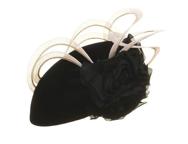 Chai - predominant colour: black; occasions: occasion; type of pattern: standard; style: fascinator; size: small; material: sinamay; pattern: plain; embellishment: feather; season: a/w 2015; wardrobe: event