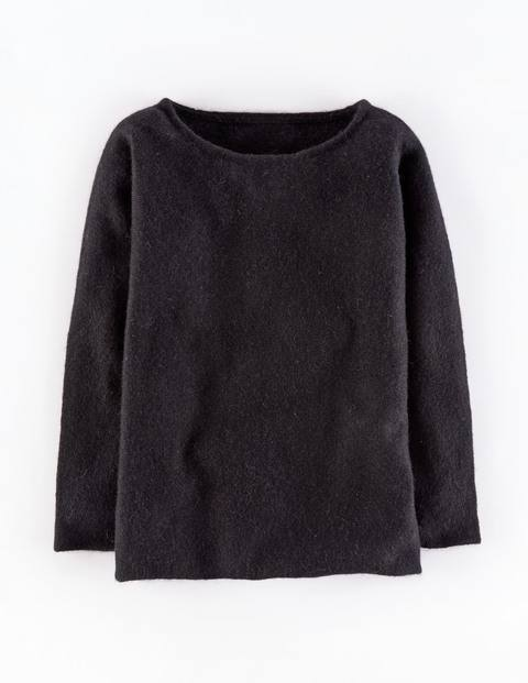Chic Mohair Mix Jumper Black Women, Black - neckline: slash/boat neckline; pattern: plain; style: standard; predominant colour: black; occasions: casual, creative work; length: standard; fibres: wool - mix; fit: standard fit; sleeve length: long sleeve; sleeve style: standard; texture group: knits/crochet; pattern type: knitted - fine stitch; season: a/w 2015