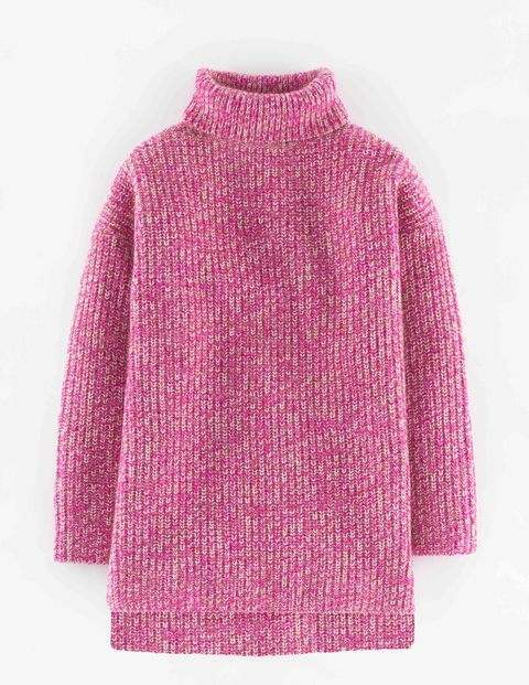 Relaxed Toasty Roll Neck Pinks Women, Pinks - pattern: plain; length: below the bottom; neckline: roll neck; style: standard; predominant colour: pink; occasions: casual; fibres: wool - mix; fit: standard fit; sleeve length: long sleeve; sleeve style: standard; texture group: knits/crochet; pattern type: knitted - other; season: a/w 2015; wardrobe: highlight