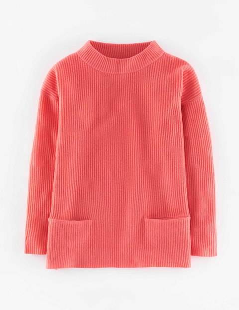 Cashmere Lofty Rib Jumper Coral Reef Women, Coral Reef - pattern: plain; neckline: high neck; style: standard; predominant colour: coral; occasions: casual, creative work; length: standard; fit: loose; fibres: cashmere - 100%; sleeve length: long sleeve; sleeve style: standard; texture group: knits/crochet; pattern type: fabric; season: a/w 2015