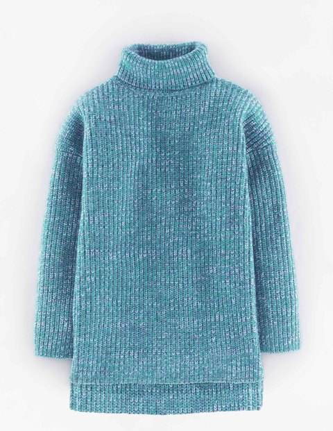 Relaxed Toasty Roll Neck Blues Women, Blues - pattern: plain; neckline: roll neck; style: standard; predominant colour: turquoise; occasions: casual, creative work; length: standard; fibres: wool - mix; fit: standard fit; sleeve length: 3/4 length; sleeve style: standard; texture group: knits/crochet; pattern type: knitted - other; season: a/w 2015; wardrobe: highlight