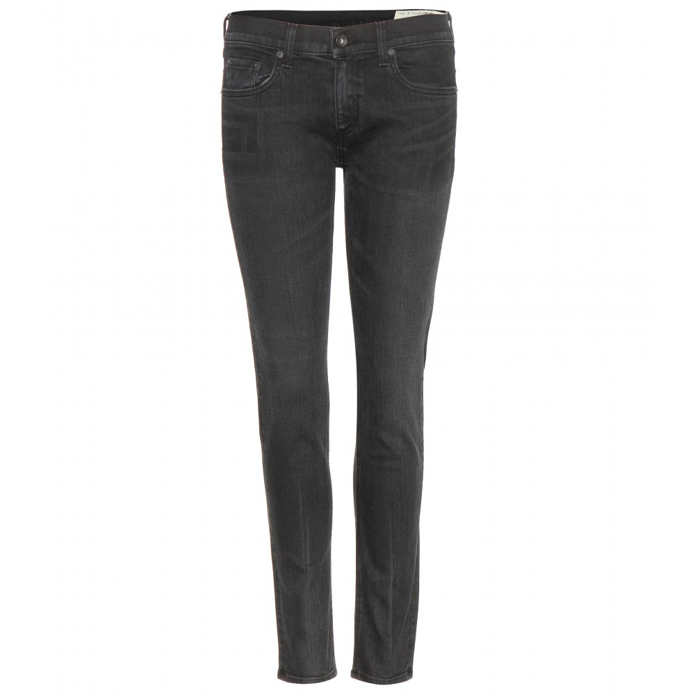 Tomboy Skinny Jeans - style: skinny leg; pattern: plain; pocket detail: traditional 5 pocket; waist: mid/regular rise; predominant colour: black; occasions: casual; length: ankle length; fibres: cotton - stretch; texture group: denim; pattern type: fabric; season: a/w 2015