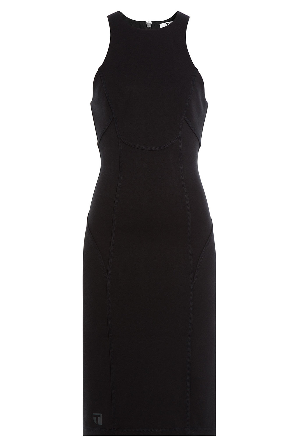 Jersey Dress Black - style: shift; length: below the knee; fit: tight; sleeve style: sleeveless; predominant colour: black; neckline: crew; sleeve length: sleeveless; season: a/w 2015