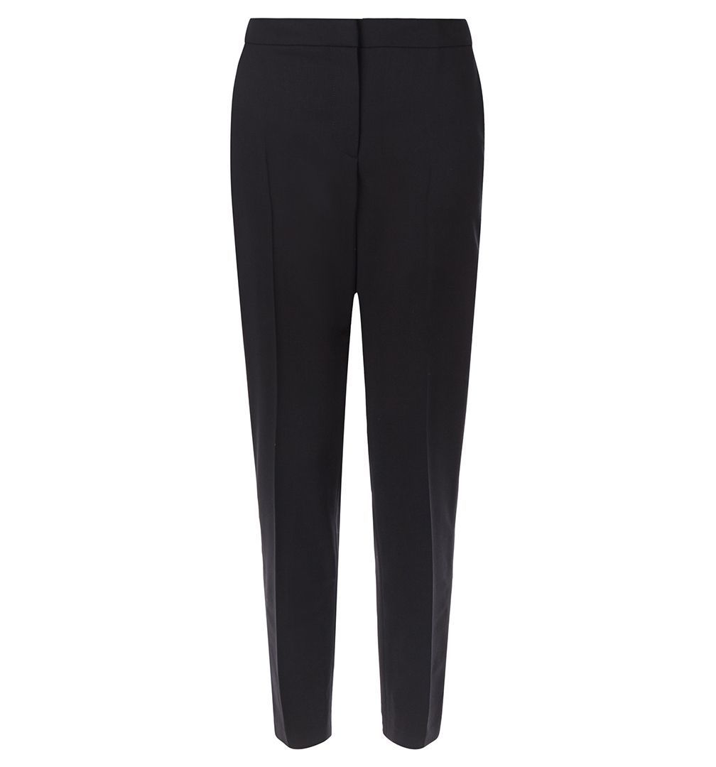 Gael Trouser, Black - length: standard; pattern: plain; style: peg leg; waist: mid/regular rise; predominant colour: black; occasions: evening, work; fibres: wool - stretch; fit: tapered; pattern type: fabric; texture group: woven light midweight; season: a/w 2015; wardrobe: basic