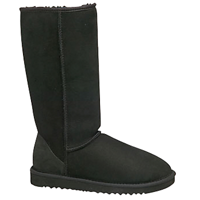 Classic Tall Boots - predominant colour: black; occasions: casual; material: suede; heel height: flat; heel: block; toe: round toe; boot length: knee; finish: plain; pattern: plain; shoe detail: tread; season: a/w 2015; style: sheepskin boots