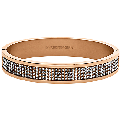 Dyrberg/Kern Heli Rose Gold Swarovski Bangle - predominant colour: gold; occasions: evening, occasion; style: bangle/standard; size: standard; material: chain/metal; finish: metallic; embellishment: crystals/glass; secondary colour: clear; season: a/w 2015; wardrobe: event