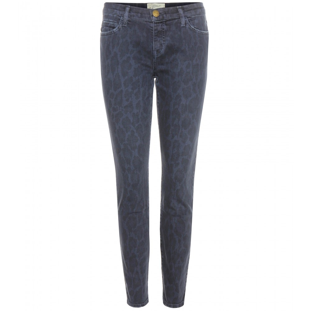 The Stiletto Skinny Jeans - style: skinny leg; length: standard; pocket detail: traditional 5 pocket; waist: mid/regular rise; predominant colour: navy; occasions: casual; fibres: cotton - stretch; texture group: denim; pattern type: fabric; pattern: animal print; season: a/w 2015; wardrobe: highlight