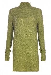 Tall Textured Turtle Neck Knit At - pattern: plain; style: tunic; neckline: roll neck; predominant colour: khaki; occasions: casual, creative work; fibres: cotton - mix; fit: body skimming; length: mid thigh; sleeve length: long sleeve; sleeve style: standard; texture group: knits/crochet; pattern type: knitted - fine stitch; season: a/w 2015