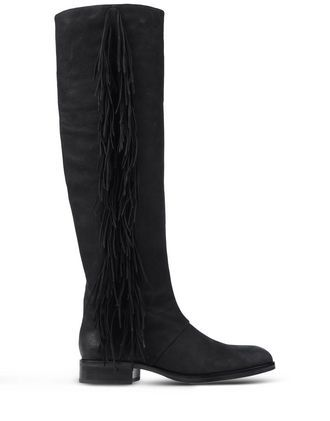 Boots Over The Knee Boots On Shoescribe.Com - predominant colour: black; occasions: casual, creative work; material: suede; heel height: flat; embellishment: tassels; heel: standard; toe: round toe; boot length: knee; style: standard; finish: plain; pattern: plain; season: a/w 2015; wardrobe: investment