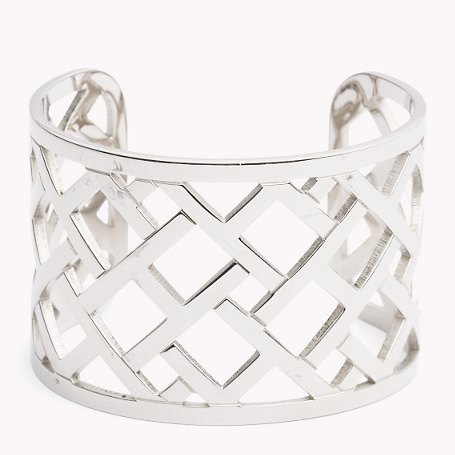 Bracelet - predominant colour: silver; occasions: evening, occasion; style: cuff; size: standard; material: chain/metal; finish: metallic; season: a/w 2015; wardrobe: event