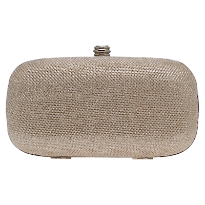 Darling Box Clutch Bag - predominant colour: champagne; occasions: evening, occasion; type of pattern: standard; style: clutch; length: hand carry; size: standard; material: faux leather; pattern: plain; finish: plain; season: a/w 2015