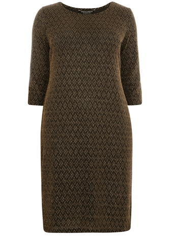 Womens **Dp Curve Gold Sparkle Bodycon Dress Gold - neckline: round neck; pattern: plain; style: bodycon; predominant colour: bronze; occasions: evening; length: just above the knee; fit: body skimming; sleeve length: half sleeve; sleeve style: standard; texture group: jersey - clingy; pattern type: fabric; fibres: nylon - stretch; season: a/w 2015; wardrobe: event
