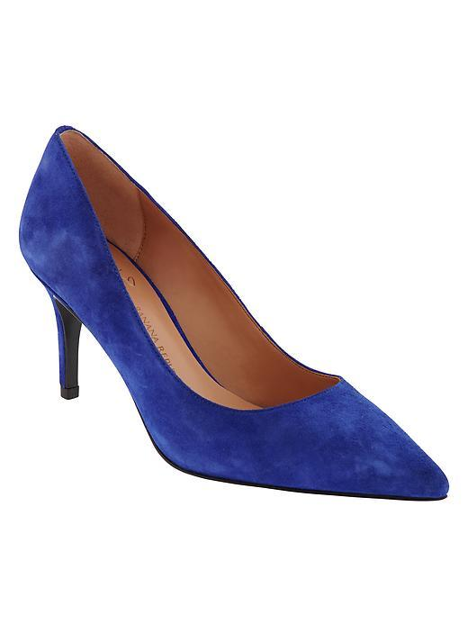 Annetta Pump Dreamy Royal - predominant colour: royal blue; occasions: evening, creative work; material: suede; heel height: high; heel: stiletto; toe: pointed toe; style: courts; finish: plain; pattern: plain; season: a/w 2015; wardrobe: highlight