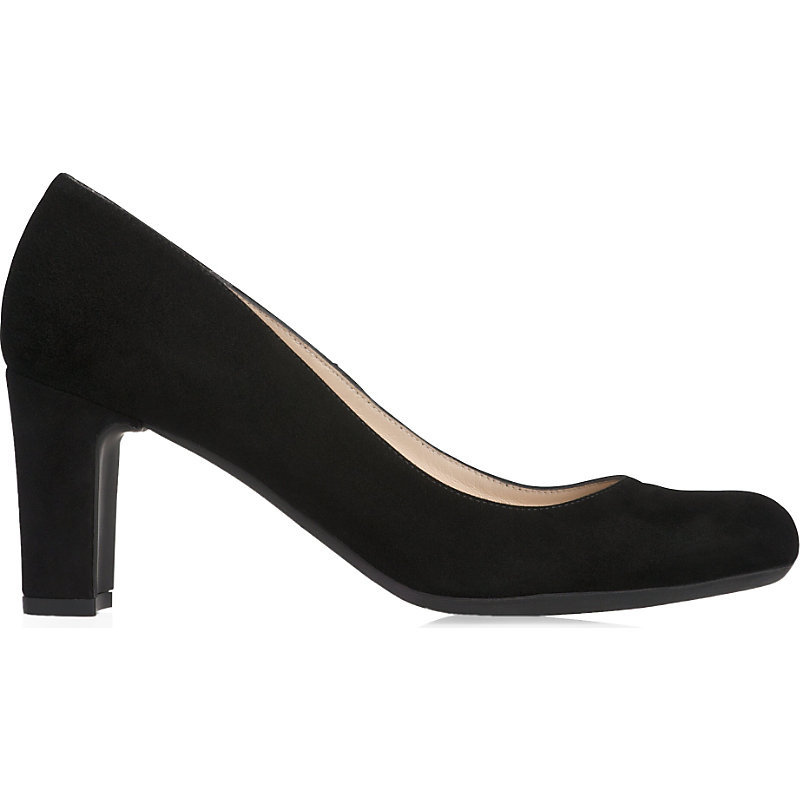 Sersha Suede Courts, Women's, Eur 42/ 9 Uk Women, Bla Black - predominant colour: black; occasions: work; material: suede; heel height: high; heel: block; toe: round toe; style: courts; finish: plain; pattern: plain; season: a/w 2015; wardrobe: investment