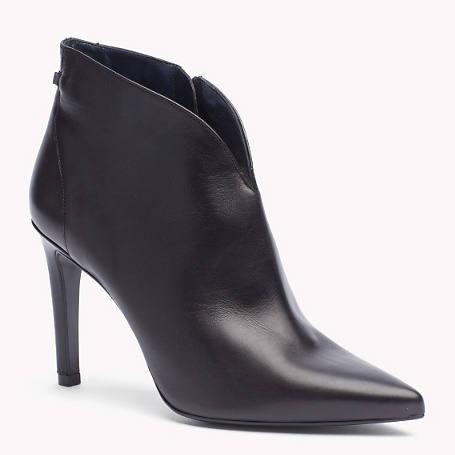 Amadine Pump - predominant colour: black; material: leather; heel height: high; heel: stiletto; toe: pointed toe; boot length: ankle boot; style: standard; finish: plain; pattern: plain; occasions: creative work; season: a/w 2015; wardrobe: highlight