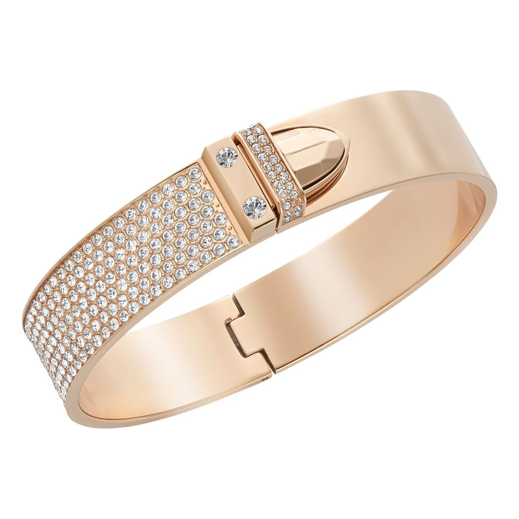 Distinct Bangle, Gold - predominant colour: gold; occasions: evening, occasion; style: bangle/standard; size: standard; material: chain/metal; finish: metallic; embellishment: crystals/glass; secondary colour: clear; season: a/w 2015; wardrobe: event