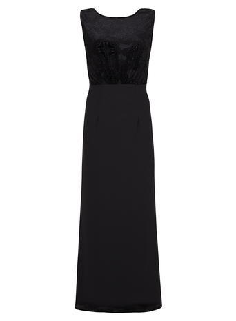 Womens **Elise Ryan Black Maxi Dress Black - neckline: round neck; pattern: plain; sleeve style: sleeveless; style: maxi dress; predominant colour: black; length: floor length; fit: fitted at waist & bust; occasions: occasion; sleeve length: sleeveless; pattern type: fabric; texture group: other - light to midweight; season: a/w 2015; wardrobe: event
