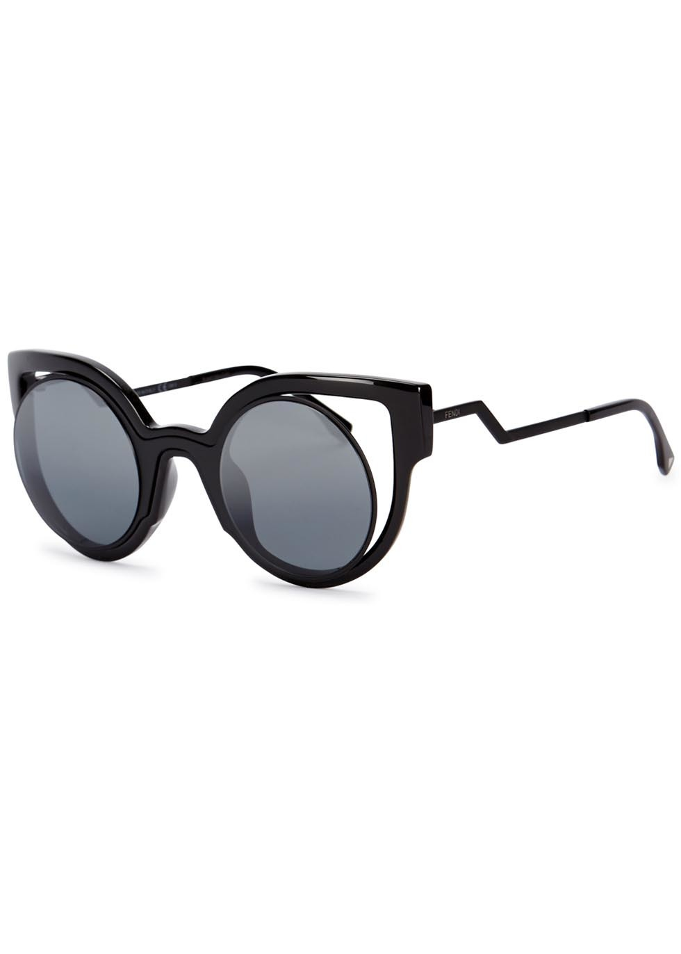 Black Cat Eye Sunglasses - predominant colour: black; occasions: casual, holiday; style: cateye; size: standard; material: plastic/rubber; pattern: plain; finish: plain; season: a/w 2015