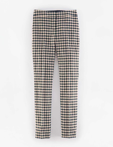 Bistro Trouser Pink & Green Gingham Women, Pink & Green Gingham - pattern: checked/gingham; waist: mid/regular rise; secondary colour: ivory/cream; predominant colour: dark green; length: ankle length; fibres: cotton - mix; fit: slim leg; pattern type: fabric; texture group: brocade/jacquard; style: standard; occasions: creative work; pattern size: standard (bottom); season: a/w 2015; wardrobe: highlight