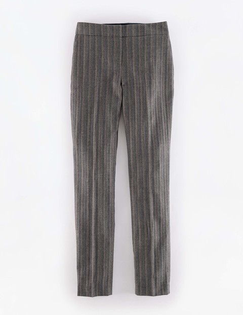 Bistro Trouser Herringbone Grey Women, Herringbone Grey - length: standard; pattern: herringbone/tweed; waist: mid/regular rise; predominant colour: charcoal; occasions: work, creative work; fibres: cotton - stretch; fit: slim leg; pattern type: fabric; texture group: woven light midweight; style: standard; pattern size: standard (bottom); season: a/w 2015; wardrobe: highlight