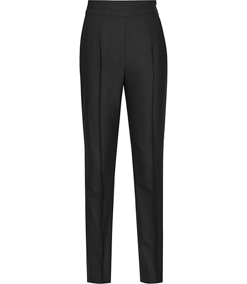 Eniko Skinny Tuxedo Trousers - length: standard; pattern: plain; style: peg leg; waist: high rise; predominant colour: black; occasions: work, creative work; fibres: wool - mix; waist detail: feature waist detail; fit: tapered; pattern type: fabric; texture group: woven light midweight; season: a/w 2015; wardrobe: basic