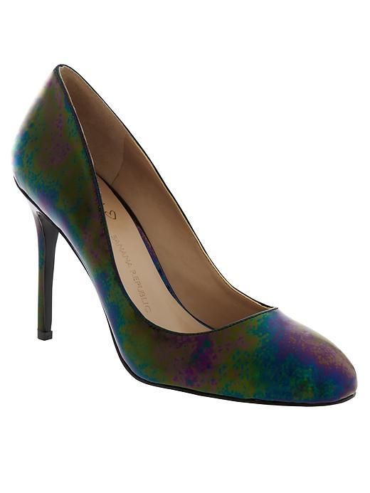 Violet Pump Black - secondary colour: magenta; predominant colour: teal; occasions: evening, occasion; material: fabric; heel: stiletto; toe: round toe; style: courts; finish: plain; pattern: patterned/print; heel height: very high; season: a/w 2015