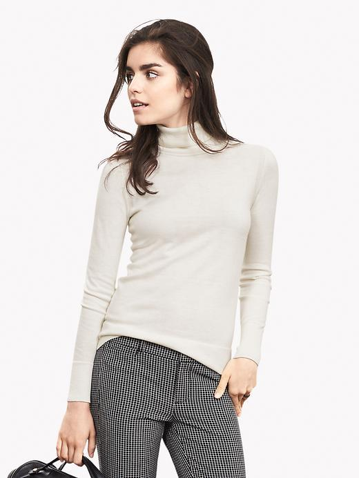 Essential Turtleneck Cocoon - pattern: plain; neckline: roll neck; style: standard; predominant colour: stone; occasions: casual; length: standard; fibres: silk - mix; fit: slim fit; sleeve length: long sleeve; sleeve style: standard; texture group: knits/crochet; pattern type: fabric; season: a/w 2015; wardrobe: basic