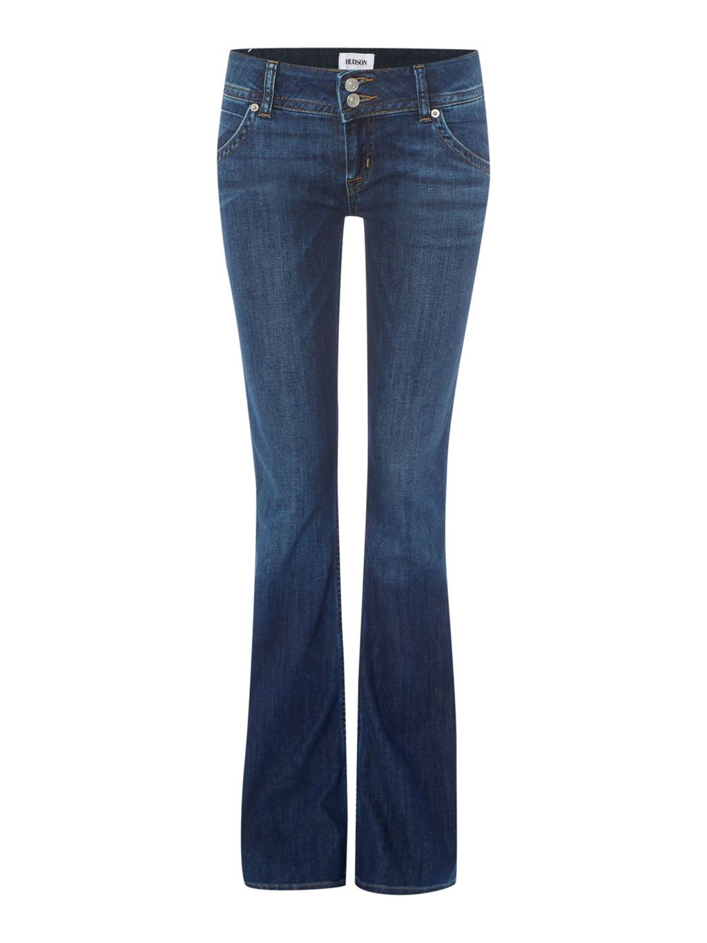Signature Bootcut Jean In Enlightened, Denim Mid Wash - style: bootcut; length: standard; pattern: plain; pocket detail: traditional 5 pocket; waist: mid/regular rise; predominant colour: denim; occasions: casual; fibres: cotton - stretch; texture group: denim; pattern type: fabric; season: a/w 2015