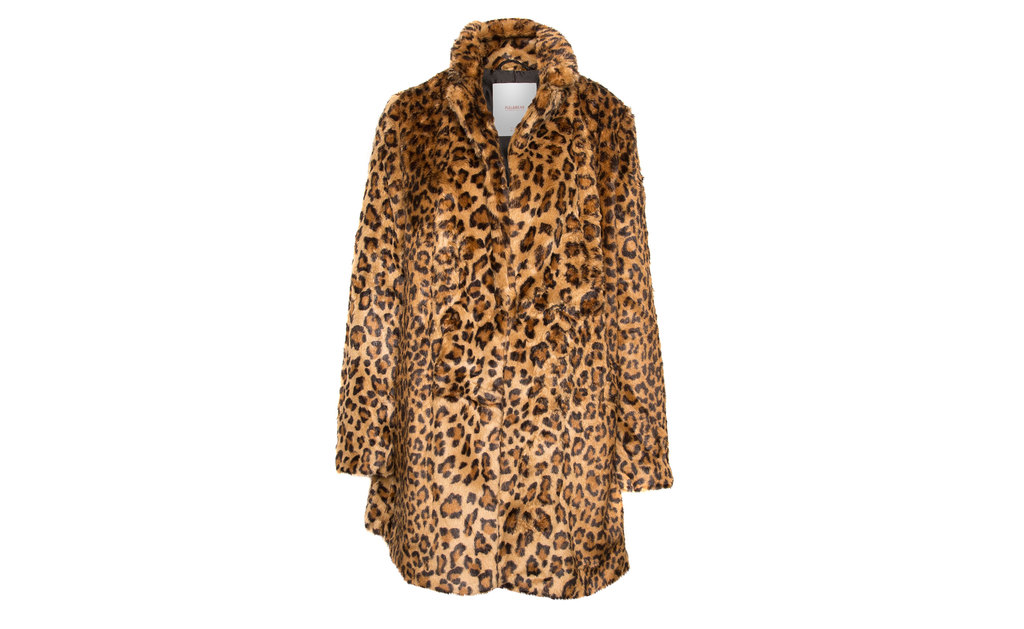 Leopard Print Faux Fur Coat - predominant colour: camel; pattern: animal print; occasions: creative work; season: a/w 2015