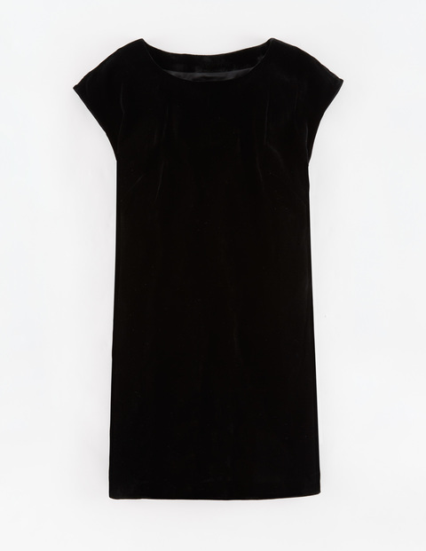 Velvet Tunic Dress Black Women, Black - style: shift; sleeve style: capped; pattern: plain; predominant colour: black; occasions: evening; length: just above the knee; fit: body skimming; fibres: silk - mix; neckline: crew; sleeve length: short sleeve; pattern type: fabric; texture group: velvet/fabrics with pile; season: a/w 2015; wardrobe: event