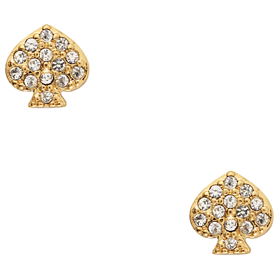 Crystal Stud Earrings, Gold - predominant colour: gold; occasions: evening; style: stud; length: short; size: small/fine; material: chain/metal; fastening: pierced; finish: metallic; embellishment: crystals/glass; secondary colour: clear; season: a/w 2015; wardrobe: event