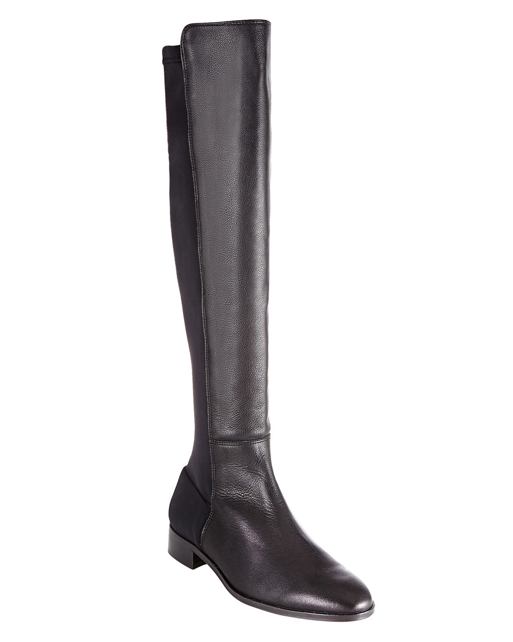 Amber Stretch Long Boot - predominant colour: black; occasions: casual, creative work; material: leather; heel height: mid; heel: block; toe: round toe; boot length: over the knee; style: standard; finish: plain; pattern: plain; season: a/w 2015; wardrobe: investment