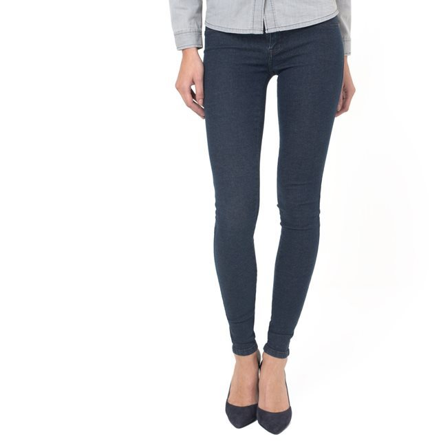 Kissy Pleated Skinny Jeggings - length: standard; pattern: plain; style: jeggings; waist: mid/regular rise; predominant colour: navy; occasions: casual; fibres: cotton - stretch; texture group: denim; pattern type: fabric; season: a/w 2015; wardrobe: basic