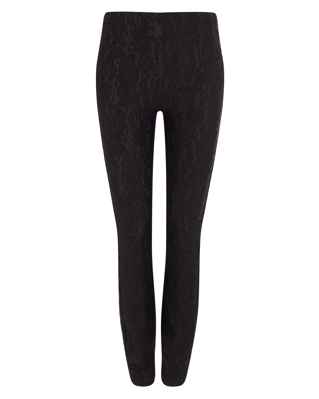 Bonded Lace Ponte Jegging - length: standard; waist: mid/regular rise; predominant colour: black; occasions: evening, creative work; fibres: polyester/polyamide - mix; texture group: lace; fit: skinny/tight leg; pattern type: fabric; pattern: patterned/print; style: standard; season: a/w 2015; trends: romantic goth; wardrobe: highlight